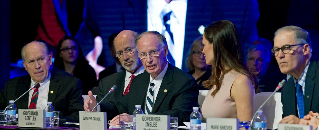 Governor Bentley Leads Off National Governor's  Association Winter Meeting, Elected to Lead Delta  Regional Authority, Discusses Healthcare Repeal and  Replacement with President Trump and Cabinet